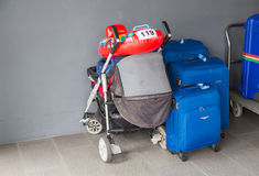 Suitcases and travel bag Royalty Free Stock Photo