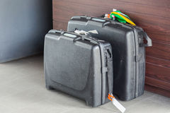 Suitcases and travel bag Stock Images