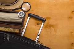 Suitcases and travel bag Royalty Free Stock Image