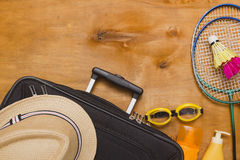 Suitcases and travel bag Royalty Free Stock Photography