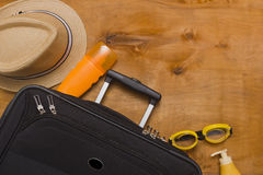 Suitcases and travel bag Stock Photos
