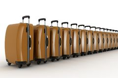 Suitcases for travel. Royalty Free Stock Photos