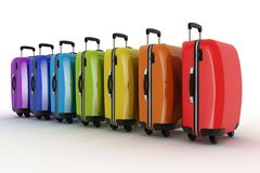 Suitcases for travel. 3d illustration Stock Photo