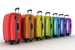 Suitcases for travel Stock Image
