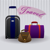 Suitcases travel design Stock Images