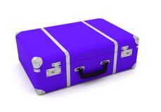 Suitcases travel vacancy. 3D adventure royalty free illustration