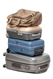 Suitcases. And traveling bags isolated on white background Royalty Free Stock Images
