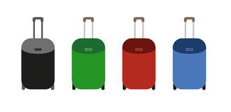 Suitcases on wheels Royalty Free Stock Images
