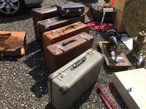Suitcases. Where are we going Royalty Free Stock Images
