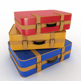 Suitcases on white background Royalty Free Stock Images