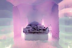 Suite de lune de miel dans l'hôtel de glace, Sorrisniva Image stock