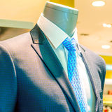 Suite on the mannequin. Mall mannequins and suit and tie Royalty Free Stock Images