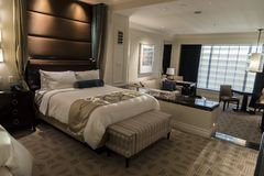 A suite in the Palazzo Las Vegas. The Palazzo is a luxury hotel and casino resort located on the Las Vegas Strip in Paradise, Nevada. It is the tallest royalty free stock images