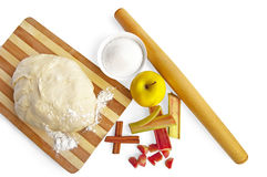 Suite of products for apple pie Stock Photo