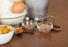 Suite of products for the Easter cake Royalty Free Stock Photography