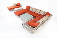 Suite Of Wicker Furniture Royalty Free Stock Photo