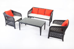 Suite Of Wicker Furniture Royalty Free Stock Images