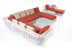 Suite Of Wicker Furniture Royalty Free Stock Photography