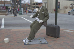 Suited Living Statue Royalty Free Stock Image