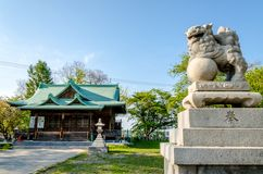 Suitengu shrine the temple of shinto religion at Otaru, Hokkaido Royalty Free Stock Images