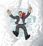 suitman落的天空 免版税库存照片