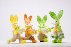 Suitor bunnies Stock Images