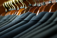 Suits. Picture of suits on a hangers Royalty Free Stock Photo