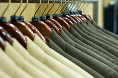 Suits. Picture of suits on a hangers Stock Photography