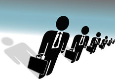 Suits Briefcases Symbol Business People Ready Work Royalty Free Stock Photos