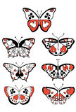 Suits butterflies Stock Images