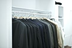 Suits Closet Stock Photography