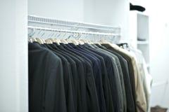 Suits Closet Stock Photography