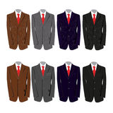 Suits. Eight different colored suits for a business man Stock Photo