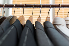 Suits on hangers Royalty Free Stock Photos
