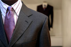 Suits on Mannequins stock photos