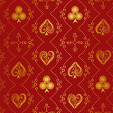 Suits of playing cards seamless pattern Stock Images
