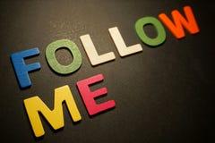Suivez-moi photos libres de droits