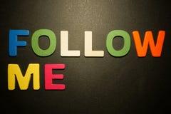 Suivez-moi photo libre de droits