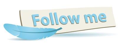 Suivez-moi panneau Images libres de droits