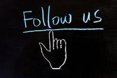 Suivez-nous Images libres de droits
