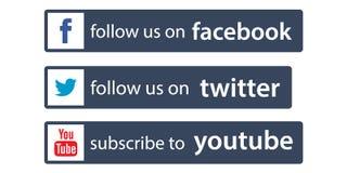 Suivez-nous sur le facebook/Twitter illustration stock