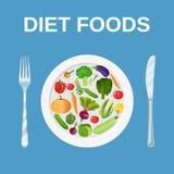 Suivez un régime la nourriture Suivre un régime et nutrition Photo stock