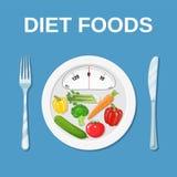 Suivez un régime la nourriture Suivre un régime et nutrition Photographie stock