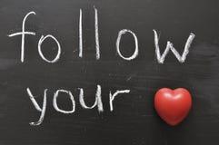 Suivez votre coeur Photo libre de droits