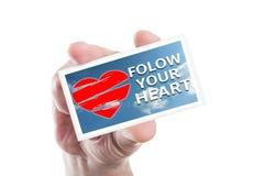 Suivez votre coeur Photographie stock libre de droits