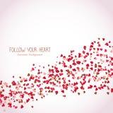 Suivez votre coeur romantique Affiche du jour de Valentine illustration stock