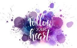 Suivez votre fond de coeur illustration libre de droits