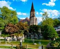Suiza da igreja de Interlaken Fotos de Stock Royalty Free