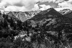 Suiza de América millón de carreteras Rocky Mountains del dólar Fotos de archivo libres de regalías