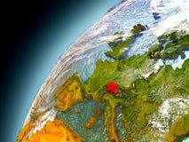 Suiza de la órbita de Earth modelo Imagenes de archivo